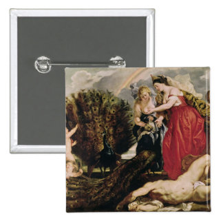 Juno and Argus, 1611 2 Inch Square Button