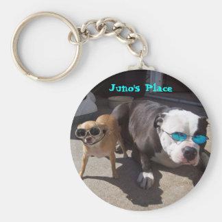 Juno and Nikki Basic Round Button Keychain