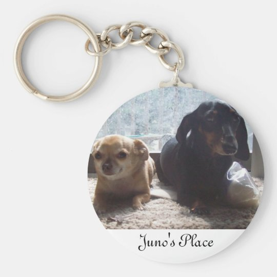 Juno and Scout Keychain