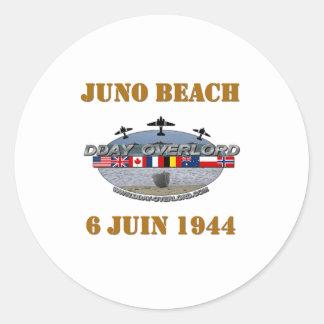 Juno Beach 1944 Normandy Classic Round Sticker