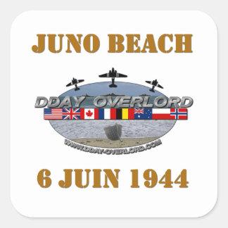Juno Beach 1944 Normandy Square Sticker