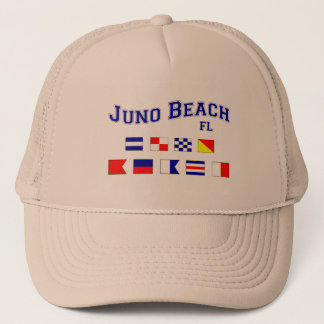 Juno Beach, FL - Nautical Flag Spelling Trucker Hat