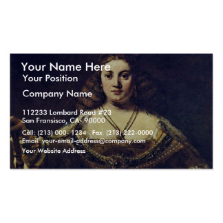 Juno. By Rembrandt Van Rijn (Best Quality) Double-Sided Standard Business Cards (Pack Of 100)