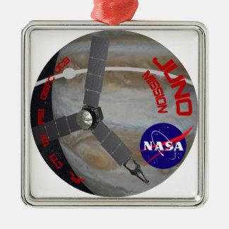 Juno: Logotipo del programa Adorno Cuadrado Plateado