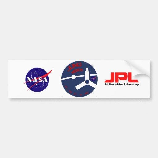JUNO:  Misión en Júpiter Etiqueta De Parachoque