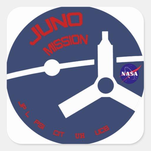 JUNO:  Misión en Júpiter Calcomanía Cuadradas Personalizadas