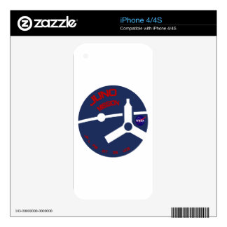 JUNO:  Mission To Jupiter Decals For The iPhone 4