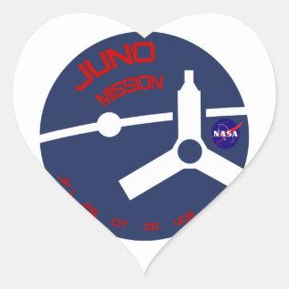 JUNO:  Mission To Jupiter Heart Sticker