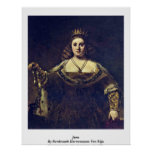 Juno. Por Rembrandt Harmenszoon Van Rijn Posters