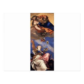 Juno que riega los regalos en Venetia de Paolo Tarjeta Postal