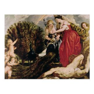 Juno y Argus, 1611 Postal