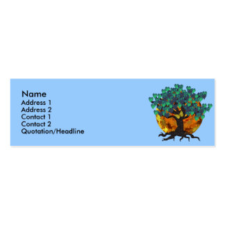 Juno's Night Profile Cards Double-Sided Mini Business Cards (Pack Of 20)