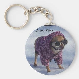 Juno's Winter Wonderland Basic Round Button Keychain