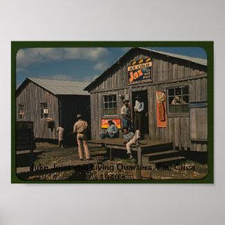 Junta de Juke y alojamiento Fla circa los años 40 Posters