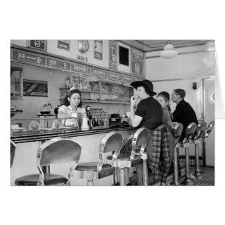 junta de la hamburguesa de los años 40 tarjeta de felicitación