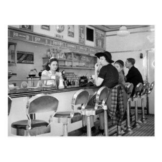 junta de la hamburguesa de los años 40 tarjetas postales