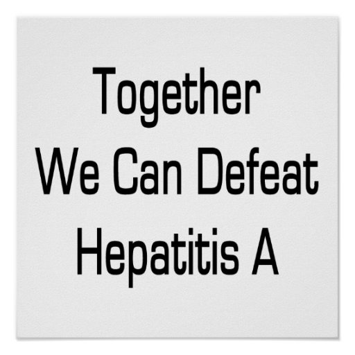 Junta podemos derrotar la hepatitis A Posters
