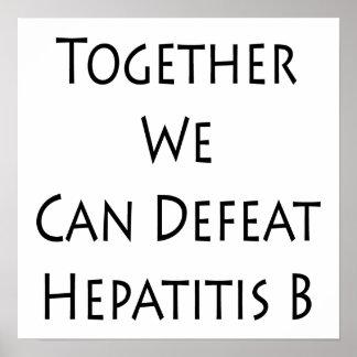 Junta podemos derrotar la hepatitis B Impresiones