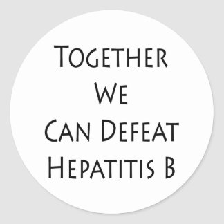 Junta podemos derrotar la hepatitis B Pegatina Redonda