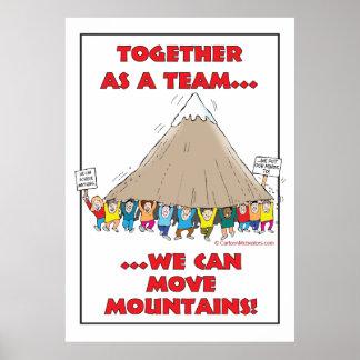 ¡Juntas en equipo… podemos mover las montañas! Póster