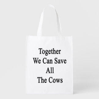 Juntas podemos ahorrar todas las vacas bolsa de la compra