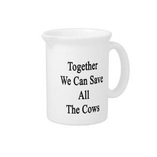 Juntas podemos ahorrar todas las vacas jarras