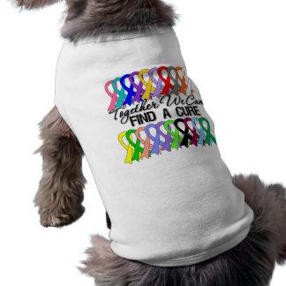 Juntas podemos encontrar cintas de un cáncer de la playera sin mangas para perro