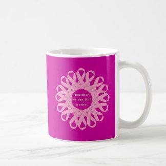 Juntas podemos encontrar cintas de un rosa de la taza