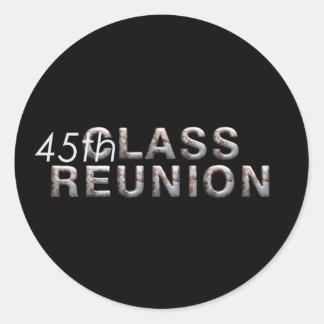JUNTE CON TE la 45.a reunión de antiguos alumnos Etiqueta Redonda