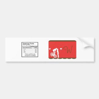 Junte el rojo de la bici/la etiqueta de la botella pegatina para auto
