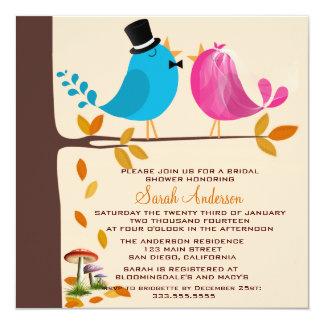 Junte los pájaros en ducha nupcial de la caída de invitación