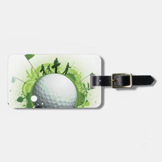 Juntemos con te apagado para el golf etiquetas bolsas