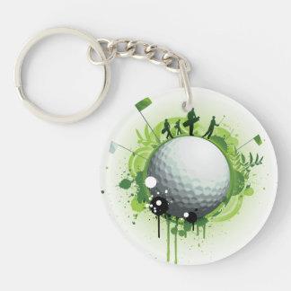 Juntemos con te apagado para el golf llavero redondo acrílico a doble cara