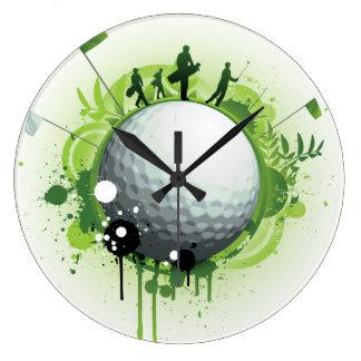 Juntemos con te apagado para el golf reloj redondo grande