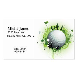 Juntemos con te apagado para el golf tarjetas de visita