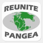 Júntese Pangea Calcomanías Cuadradass