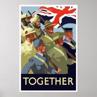 Junto -- Imperio británico WWII Póster