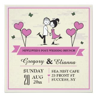 Junto invitación del brunch del boda del poste invitación 13,3 cm x 13,3cm