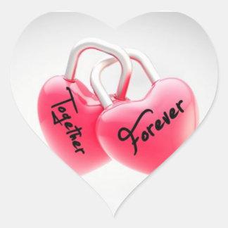 Junto para nunca los pegatinas del corazón
