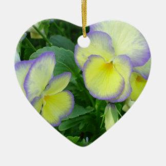 Junto para siempre ornamento amarillo limón del pe adorno