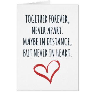 Junto para siempre tarjeta
