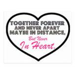 Junto para siempre y nunca aparte ....... tarjeta postal