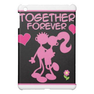 Junto pares rosados de la Para siempre-tarjeta del