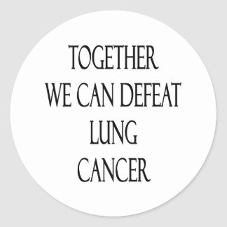 Junto podemos derrotar el cáncer de pulmón pegatina redonda