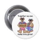 Juntos el amor crece las camisetas y los regalos pins