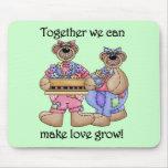 Juntos el amor crece las camisetas y los regalos alfombrilla de ratones