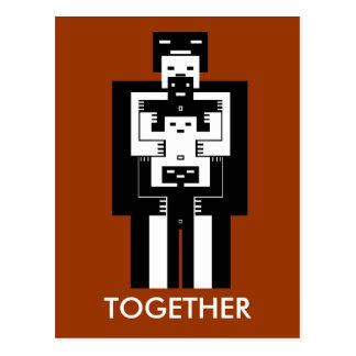Juntos el amor nos conseguirá a través postal