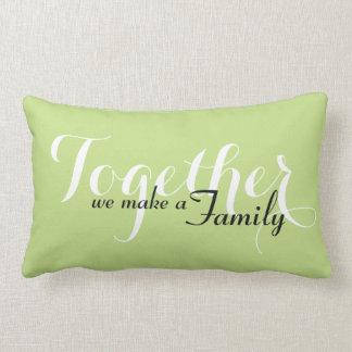Juntos hacemos una familia el amortiguador lumbar almohada