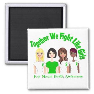 Juntos luchamos como salud mental de los chicas iman de frigorífico