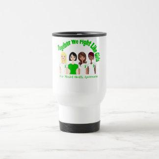 Juntos luchamos como salud mental de los chicas taza de café